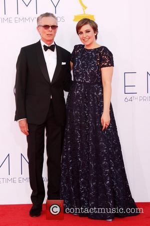 Lena Dunham and Carroll Dunham