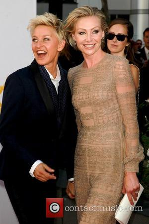 Ellen DeGeneres and Portia de Rossi 64th Annual Primetime Emmy Awards, held at Nokia Theatre L.A. Live - Arrivals Los...