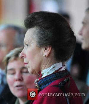 Princess Anne Giant Panda Tian Tian had a Royal Visit today from Princess Royal, Princess Anne at Edinburgh Zoo Edinburgh,...