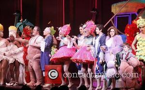 WPLJ DJs Scott Shannon, Todd Pettengill and cast  Curtain Call for the Broadway musical 'Priscilla Queen of the Desert'...