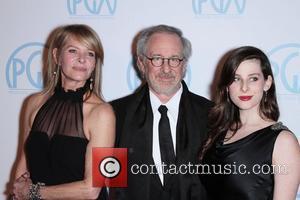Steven Spielberg, Kate Capshaw and Sasha Spielberg