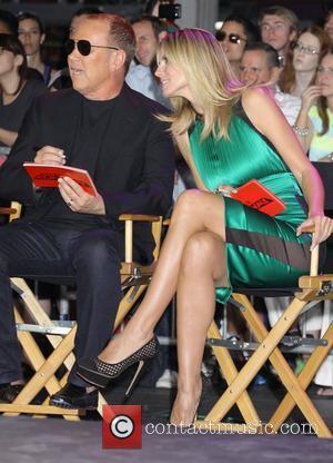 Heidi Klum, Michael Kors and Times Square