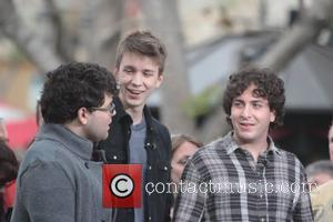 Jonathan Daniel Brown, Thomas Mann, Oliver Cooper The cast of the film, 'Project X' at The Grove to appear on...