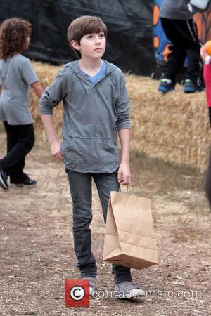 Mason Cook enjoys a day at Mr. Bones Pumpkin Patch Los Angeles, California - 21.10.12