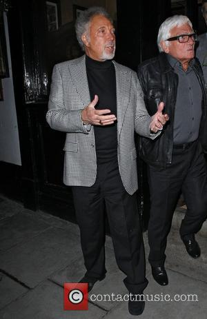 Tom Jones leaving the The Punch Bowl pub in Mayfair London, England - 16.05.12