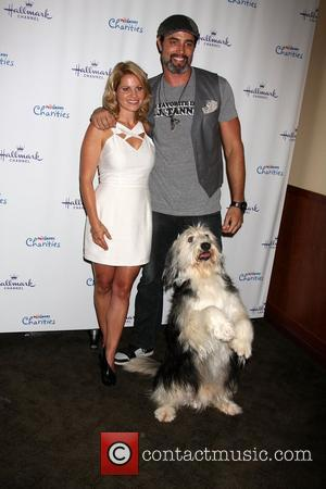 Candance Cameron Bure, Victor Webster, Bug Z  The Hallmark Channel 'Puppy Love' private reception at La Piazza at The...