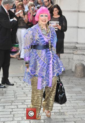 Zandra Rhodes 'A Celebration of the Arts' held at the Royal Academy of Arts - Outside Arrivals. London, England -...