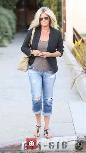 Rachel Hunter  exits Andy Lecompte salon in West Hollywood.  Los Angeles, California - 27.06.12