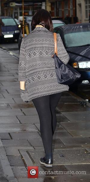 Natalie Cassidy leaving the BBC Radio 1 studios London, England - 24.01.12