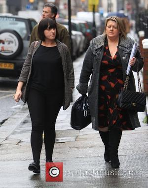 Natalie Cassidy leaving the BBC Radio 1 studios London, England - 24.01.12
