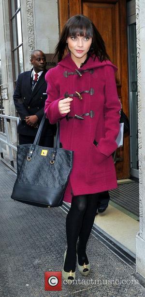 Christina Ricci at the BBC Radio 1 studios London, England - 16.02.12