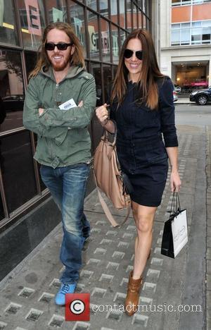 Tim Minchin, Mel C aka Melanie Chisholm outside the BBC Radio 1 studios London, England - 19.09.12
