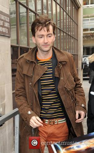 David Tennant outside the BBC Radio 1 studios London, England - 21.03.12