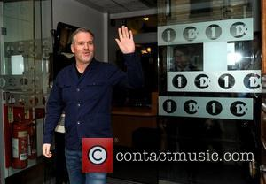 Chris Moyles leaving the BBC radio One studios on the day he announced that he is leaving the Radio 1...