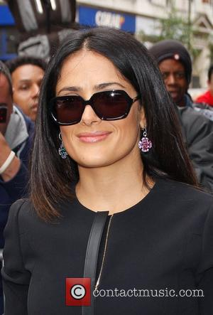 Salma Hayek  at the BBC Radio 1 studios  London, England - 20.09.12