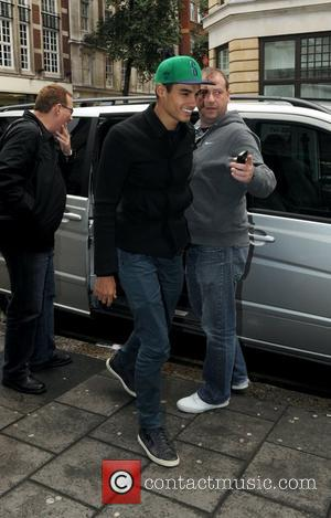 Siva Kaneswaran of The Wanted arriving at the BBC Radio 1 studios London, England - 01.11.12