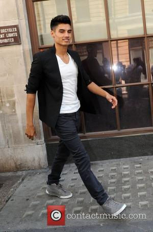 Siva Kaneswaran of The Wanted at the BBC Radio 1 studios London, England - 05.07.12