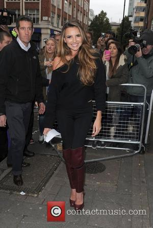 Nadine Coyle from Girls Aloud, leaving the BBC Radio 1 studios with her fellow band members. London, England - 12.11.12