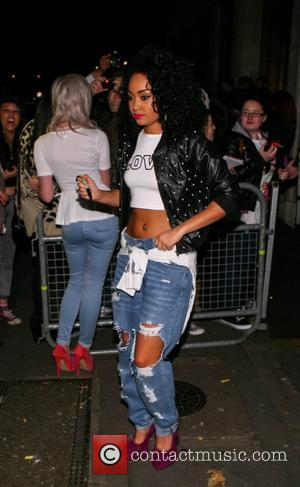 Perrie Edwards and Leigh-Anne Pinnock Little Mix at the BBC Radio 1 studios London, England - 18.11.12