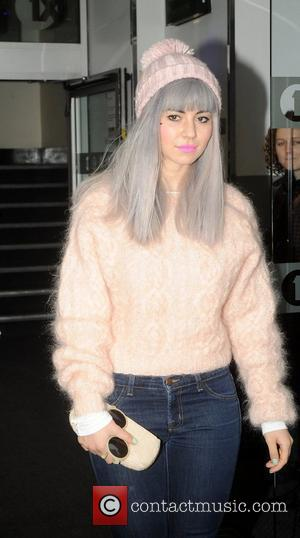 Marina Diamandis of Marina And The Diamonds at the BBC Radio 1 studios London, England - 18.01.12