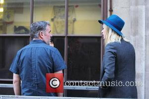 Chris Moyles and Fearne Cotton outside the BBC Radio One studios London, England - 11.09.12