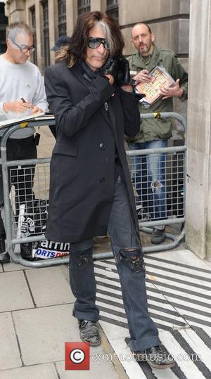 Joe Perry of Aerosmith outside the BBC Radio 1 studios London, England - 17.10.12