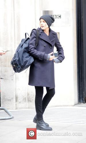 Agyness Deyn outside the BBC Radio 2 studios London, England - 20.02.12