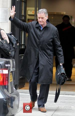 Michael Palin outside the BBC Radio 2 studios London, England - 23.10.12