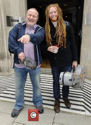 Newton Faulkner arrives at the BBC Radio 2 studios London, England - 03.07.12