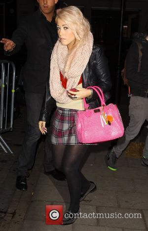 X Factor finalist Amelia Lily arriving at BBC Radio One Studios London, England - 05.11.11