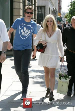 Greg James and Fearne Cotton Fearne Cotton leaving the Radio 1 Studios after announcing she is pregnant with her first...