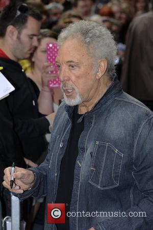 Tom Jones leaving the BBC Radio 1 studios, after promoting the television show 'The Voice', on which he is a...