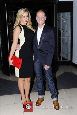 Antony Cotton and guest,  at the BBC Radio 1 Cover party held at Claridge's. London, England - 17.01.12,