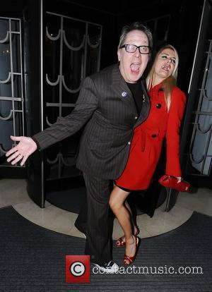 Vic Reeves and Nancy Sorrell,  at the BBC Radio 1 Cover party held at Claridge's. London, England - 17.01.12,