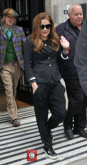 Lisa Marie Presley at the BBC Radio 2 studios London, England - 19.09.12