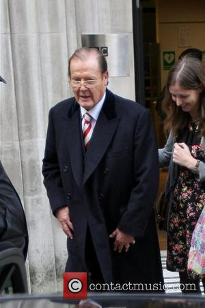 Roger Moore Celebrities are seen leaving Radio 2 Studios London, England - 24.10.12