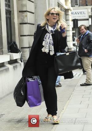 Zoe Ball  outside the BBC Radio 2 studios London, England - 13.04.12