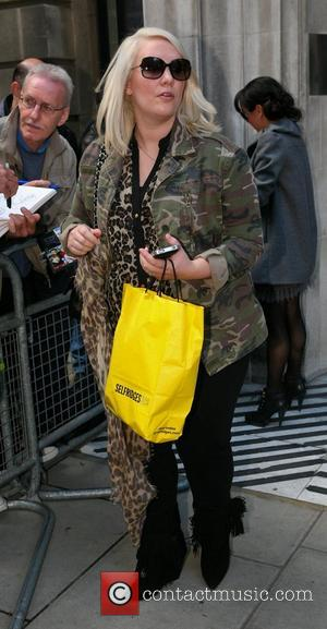 Claire Richards of Steps outside the BBC Radio 2 studios London, England - 13.10.12