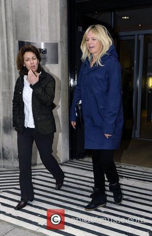 Zoe Ball leaving the BBC Radio 2 studios London, England - 07.06.12