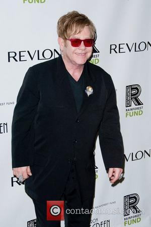 Elton John and Trudie Styler