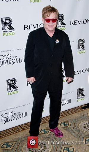 Sir Elton John The 2012 Concert For The Rainforest Fund Afterparty - Arrivals New York City, USA - 03.04.12