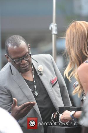 'American Idol' judge Randy Jackson appears on the entertainment news show 'extra' to promote his line of watches, Timepieces By...