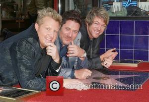 Gary Levox, Jay Demarcus, Rooney and Star On The Hollywood Walk Of Fame