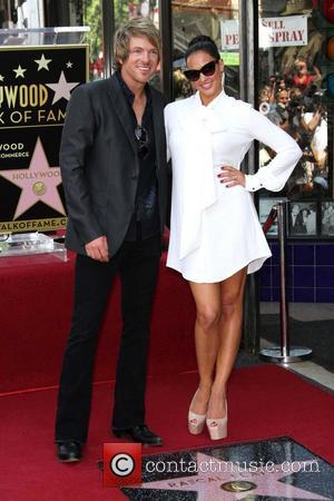 JoeDon Rooney, Tiffany Fallon Rascal Flatts honored with star on the Hollywood Walk of Fame on Hollywood Boulevard Los Angeles,...