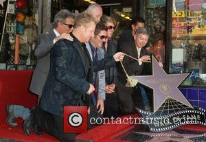 Gary Levox, Jay Demarcus, Rooney, David Foster, Leron Grubler and Star On The Hollywood Walk Of Fame