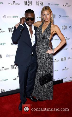 Ray J, Sophie Monk Ray J and Sophie Monk Host Prince Reigns Product Launch Party at Voodoo Beach at Rio...