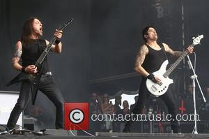 Michael Paget and Jason James, Bullet for my Valentine Reading Festival 2012 - Performances - Day Three Reading, England -...