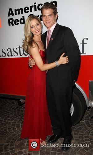 Christina Moore and Guest American Red Cross Annual Red Tie Affair held at Fairmont Miramar Hotel Santa Monica, California -...