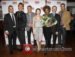 Lucas Caleb Rooney, Ansel Elgort, Brian Hutchison, Alexis Bledel, Adriane Lenox, Richard Topol and Curt Bouril  Opening night after...