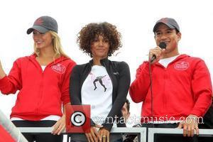 Stacy Keibler, Halle Berry and Mario Lopez